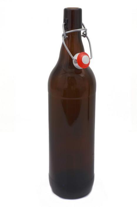 Flaska brunt glas 1 l - Nostalgiska.se