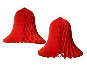 Honeycomb klocka röd 2 pack - Nostalgiska.se