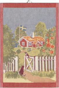 Ekelunds Linneväveri Diskhandduk Mitt Sverige - Nostalgiska.se