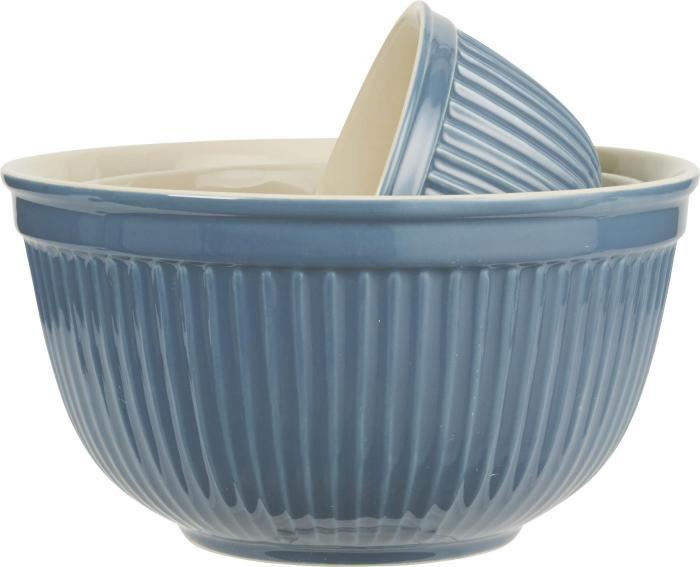 Mynte Set med keramikskålar 3 st Mörkblå - Nostalgiska.se