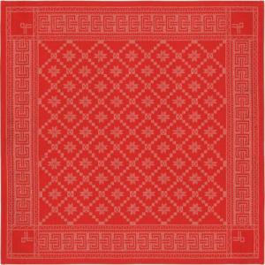 Duk Åttebladsros röd 80 x 80 cm - Nostalgiska.se