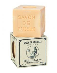 Marius Fabre Tvålkub Marseilletvål vit 400 g - Nostalgiska.se