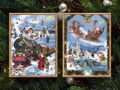 Adventskalender Victorian (med glitter) - Nostalgiska.se