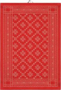 Handduk Åttebladrose Röd - Nostalgiska.se