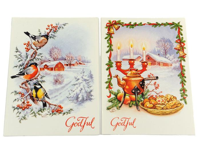 Julkort vinterfåglar - Nostalgiska.se