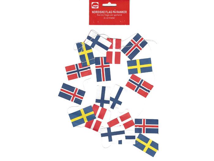 Flaggirland för julgran nordiska flaggor - Nostalgiska.se