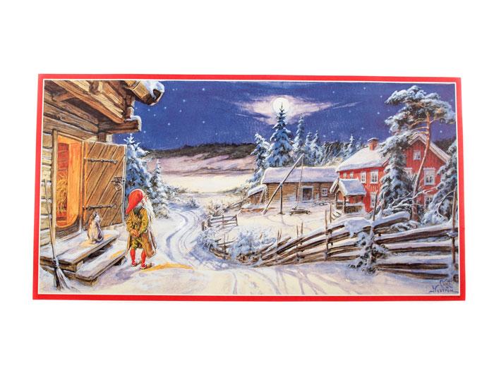 Julbonad med tomte och katt - Nostalgiska.se