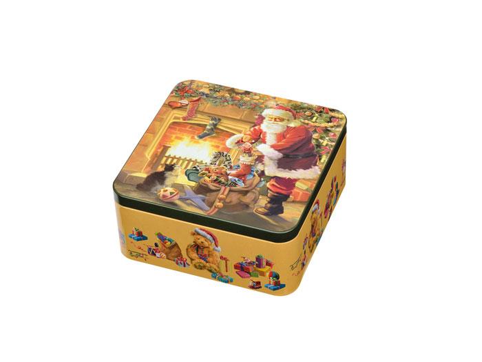 Julkakburk - julaftonskväll kvadrat 150x150x75mm - Nostalgiska.se