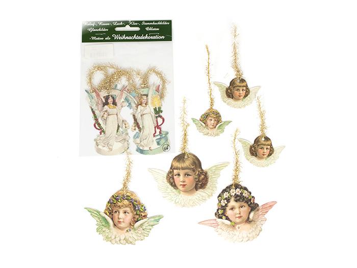 Bokmärken med glitter att hänga i julgranen - änglar - Nostalgiska.se