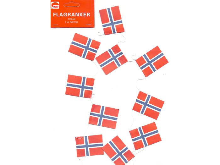 Flaggirland för julgran norska flaggor - Nostalgiska.se
