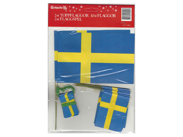 Flaggset för julgran svenska flaggor - Nostalgiska.se