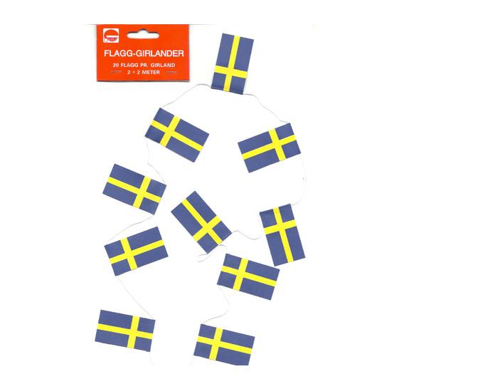 Flaggirland för julgran svenska flaggor - Nostalgiska.se