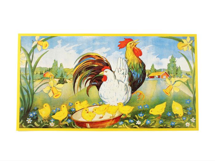 Påskbonad Kycklingmatning - Nostalgiska.se