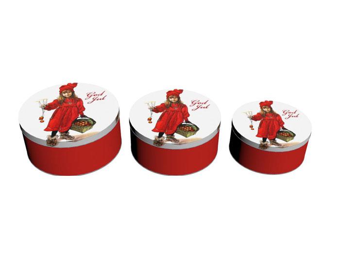 Julkakburk 3 pack - Carl Larsson Flicka - Nostalgiska.se