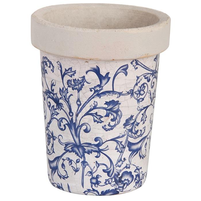 Keramikkruka åldrad keramik blå - Nostalgiska.se