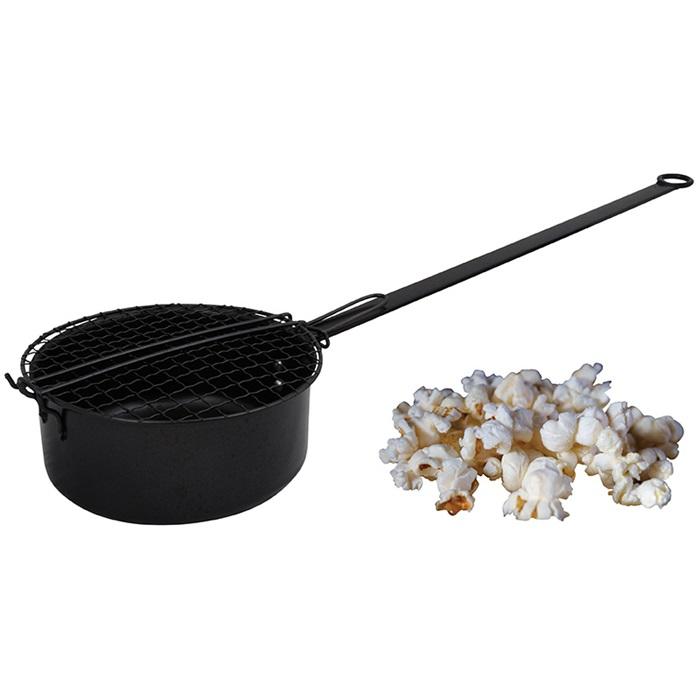 Popcornpanna för eldfat eller eldstad - Nostalgiska.se