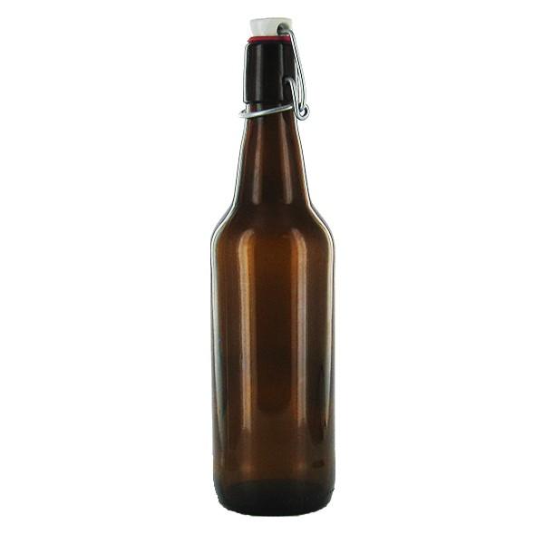 Flaska brunt glas 0,5 l - Nostalgiska.se
