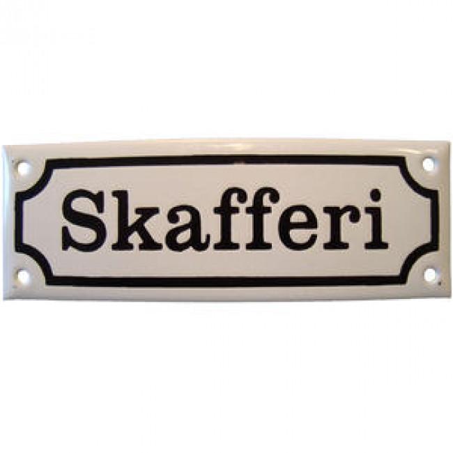 Emaljskylt Skafferi - Nostalgiska.se